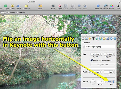 Flip an Image in Keynote