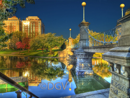 Boston Public Garden Lagoon Bridge