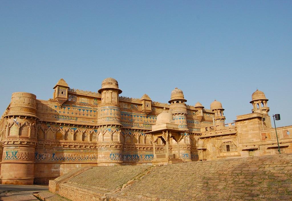 Man Singh Palace, fort de Gwalior.