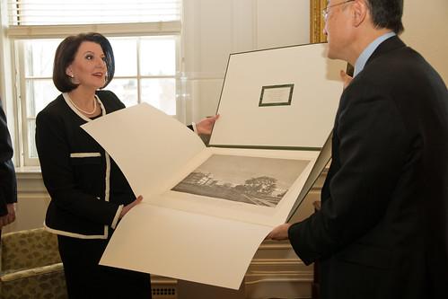 President of Kosovo Atifete Jahjaga Visits Dartmouth