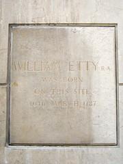 Photo of William Etty stone plaque