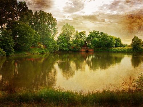 The old mill pond - Lodz, Poland by nejmantowicz