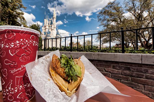 Magic Kingdom's Sleepy Hollow - Sweet and Spicy Chicken Waffle