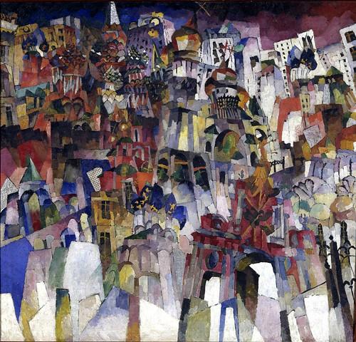 Lentulov, Aristarkh (1882-1943) - 1913 Moscow (Tretyakov Gallery, Moscow, Russia) by RasMarley