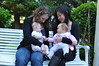 ruby and sophia and moms
