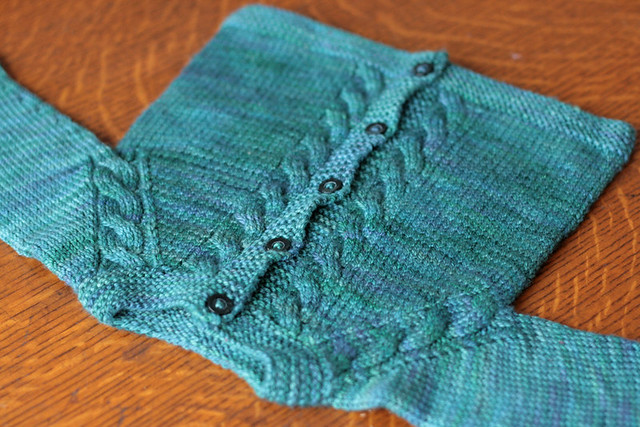 Sunnyside Baby Sweater in Moss