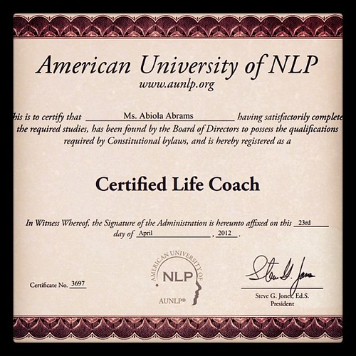 Keep forgetting to share! Master coach diploma for love, dating & relationships shd arrive next wk. Here's the life coach cert. So trust me when I tell you where your G-spot is. lol