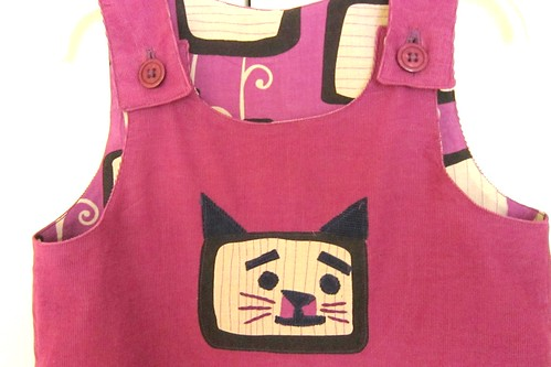"Ottobre ""Pupu"" Overalls: Detail (lightened)"