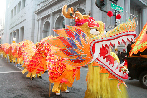 Chinese Dragon in the Street