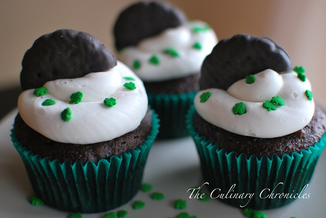Thin Mint-Chocolate Cupcakes