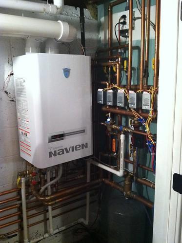 a perfect navien ch240 installation   - plumbing zone