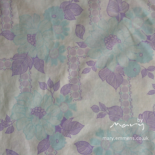 Purple/blue vintage sheet