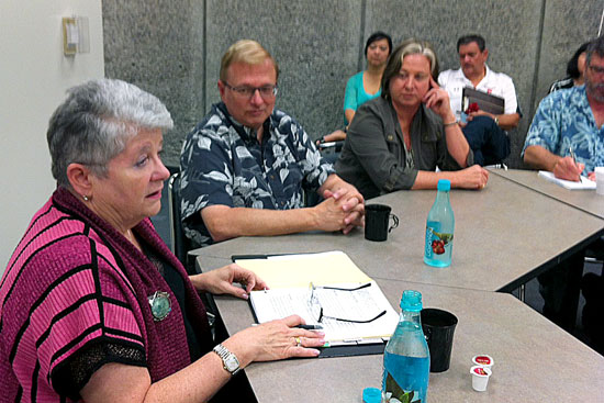 UH Hilo Chancellor's Executive Council meeting