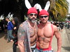 DOUBLE MUSCLE GOD BUNNIES at the HUNKY JESUS CONTEST 098  Sunday's Easter