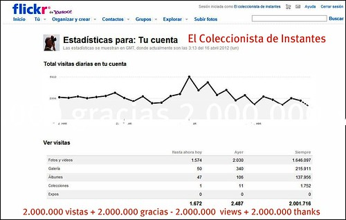 2.000.000 de Vistas en Flickr - Views on Flickr 2.000.000 by El coleccionista de instantes