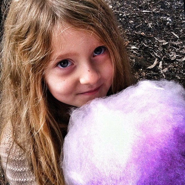 Ahh fairy floss - nothing like eating something bigger than your own head. #fairyfloss
