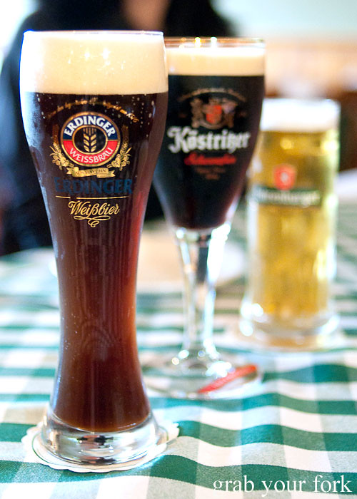 German wheat beer, lager and pilsener at Rhinedorf German Restaurant