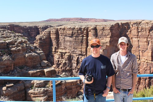 Jonathan and Zach at Little Colorado River Gorge overlook