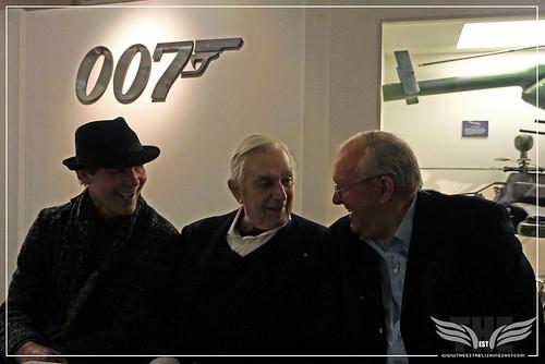 The Establishing Shot BOND IN MOTION - BOND PRODUCTION DESIGNERS DENNIS GASSNER, KEN ADAMS & PETER LAMONT SHARE A MOMENT @ LONDON FILM MUSEUM COVENT GARDEN by Craig Grobler