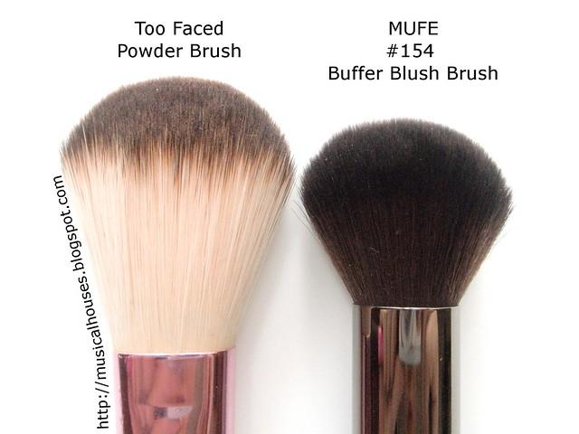 MUFE Buffer Blush Brush Too Faced Powder Brush