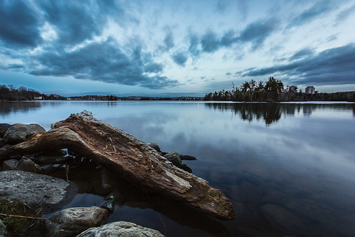 canada water clouds landscape rocks novascotia bluehour dartmouth shubie shubiepark lakemicmac