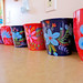 painted pots by Elisa Chavarri