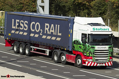 Scania R440 6x2 Tractor with 3 Axle Stobart Rail Curtainside Container Trailer - PK11 NLM - Louise Anne - Eddie Stobart - M1 J10 Luton - Steven Gray - IMG_4429