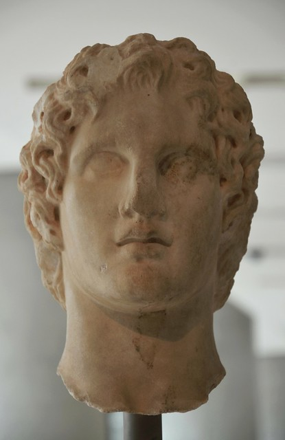 Portrait of Alexander the Great, most likely of the sculptor Leochares,  340-330 BC, New Arcropolis Museum, Athens