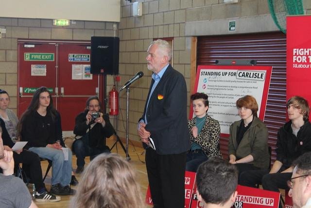 Jeremy Corbyn MP campaign visit to Carlisle
