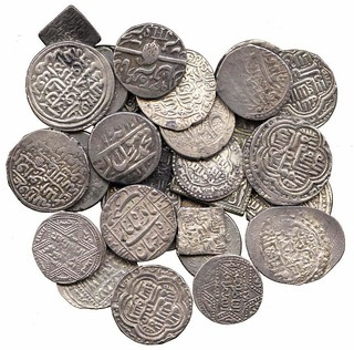 Islamic silver coins from the Abbasid and Ayyubid caliphates