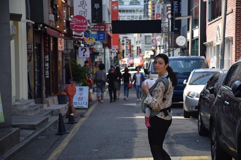 Una calle cualquiera de Gwangju.