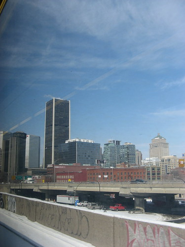 From the Train - pulling in to Montreal
