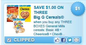 General Mills Cereals: Basic 4 ,Cheerios or Chex   Coupon