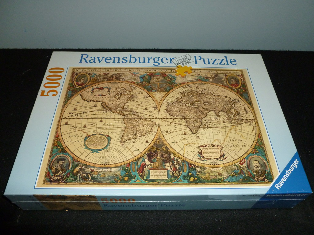 Antique World Map Puzzle.5000 Piece Puzzle Antique World Map 1630 By Hendrick Flickr