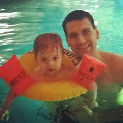 Lil swimmer.