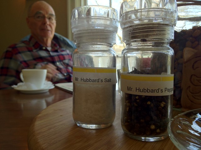 Mr. Hubbard's salt and pepper