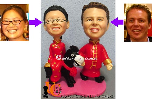 Custom Traditional Wedding Bride & Groom Figurines - @ www.unusually.com.sg