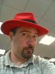 Picture wearing my Red Hat fedora hat.