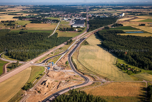 järnväg mjölby flygfoto lycketorp väg50