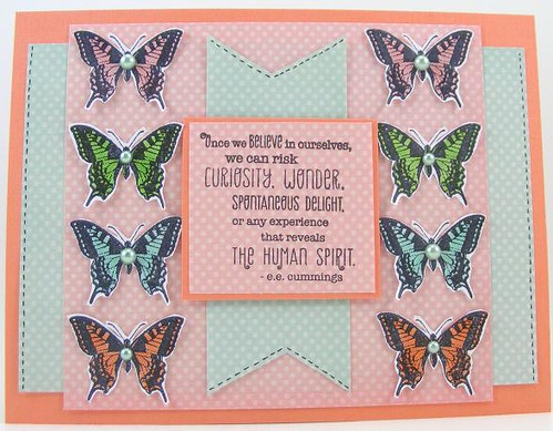 Eight Butterflies Card