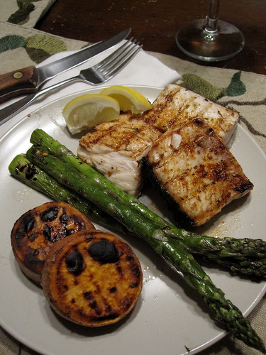 Grilled Amber jack by chick_pea_pie