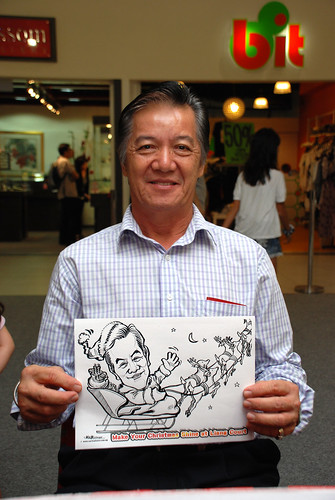 "caricature live sketching for ""Make Your Christmas Shine at Liang Court"" - 6"