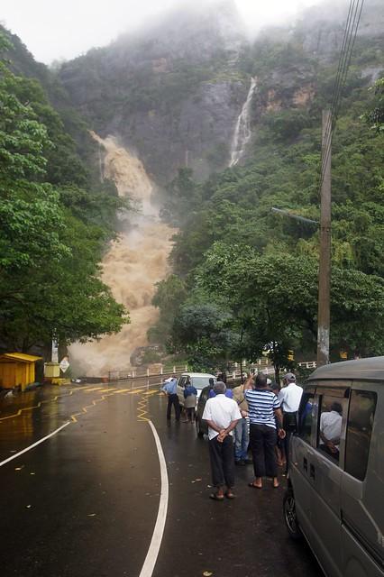 2011-0730 Sri Lanka (UP) Ella - Rawana Waterfall during Tropical Cyclone 05B