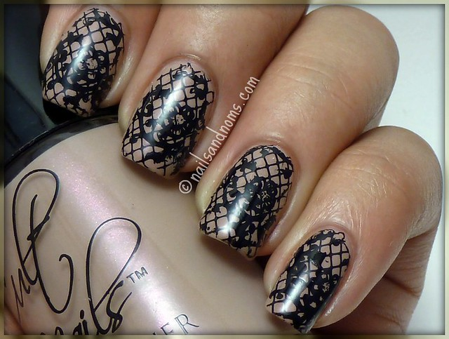 Guest Post for Fashion Polish - Stamped Lace Manicure