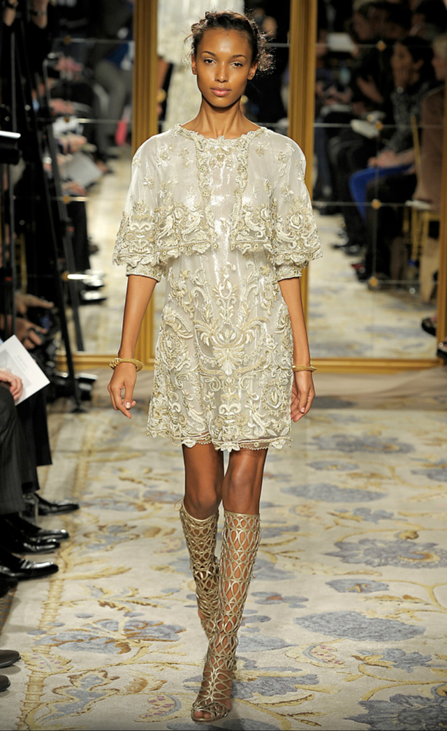 Marchesa 2012 short embroidered dress