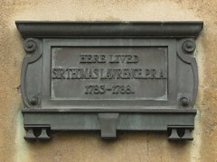Photo of Thomas Lawrence bronze plaque