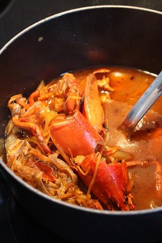 Recette de la bisque de homard ma p 39 tite cuisine - Comment cuisiner le homard cuit surgele ...