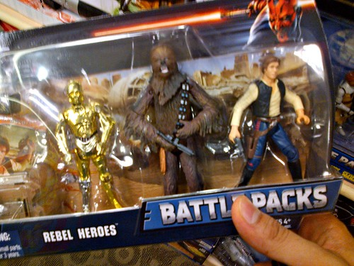 Rip-off by Hasbro! That Han Solo figure is over 12 years old!!!