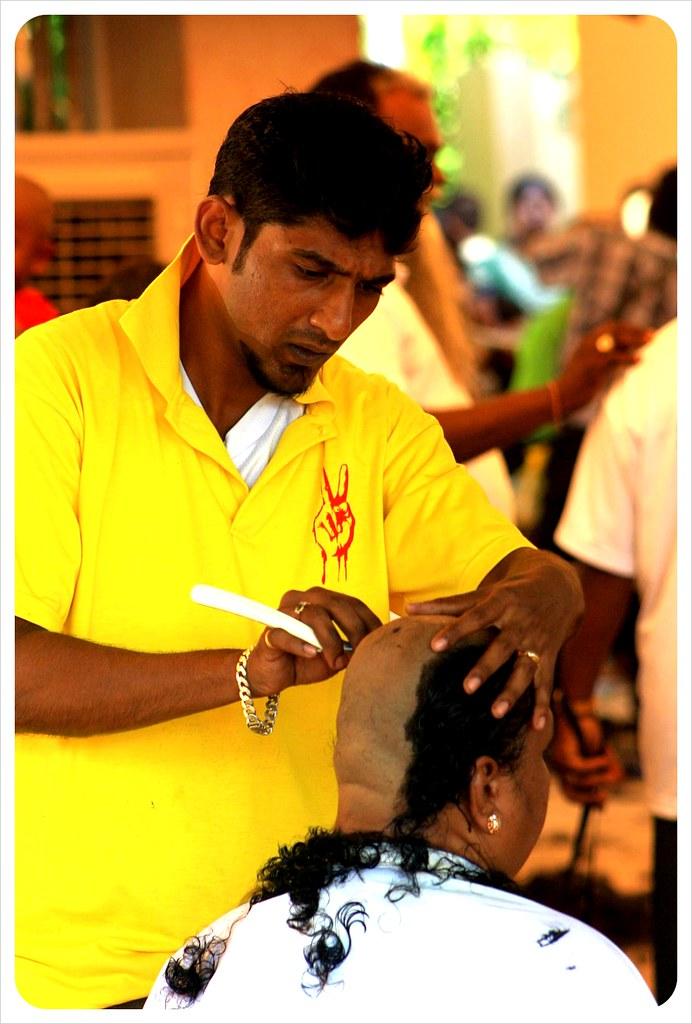 thaipusam 2012 penang shaving head