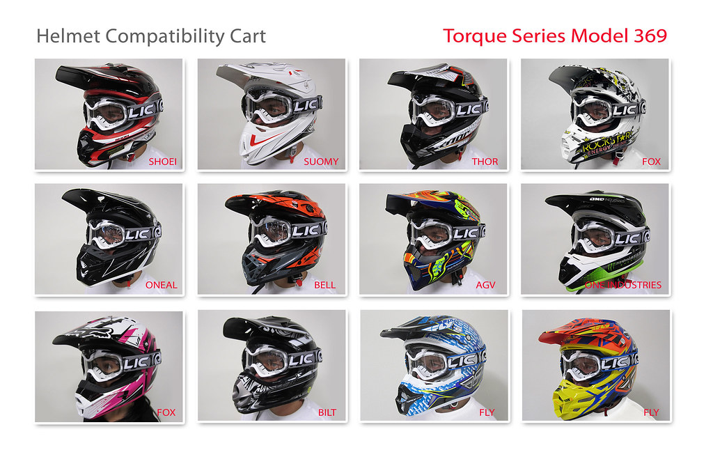 LIC Torque (Model 369) Helmet Compatibility Chart